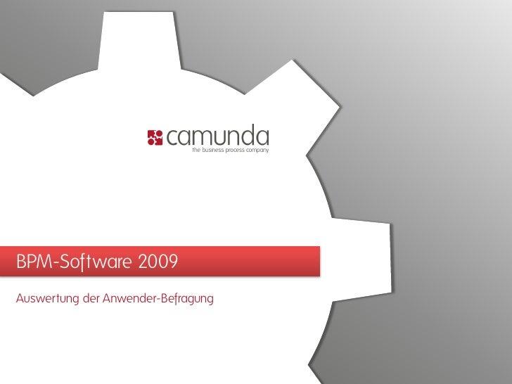 BPM-Software 2009 Auswertung der Anwender-Befragung
