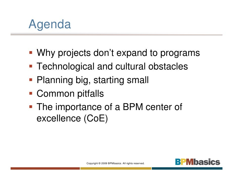 BPM From Project To Program Slide 2