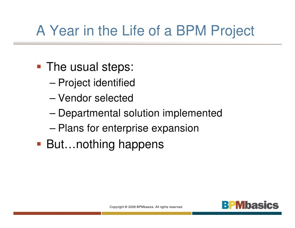 BPM From Project To Program Slide 3