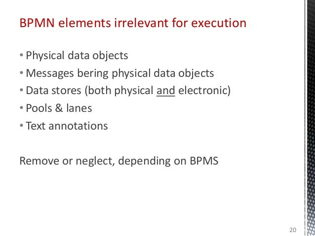 • Physical data objects • Messages bering physical data objects • Data stores (both physical and electronic) • Pools & lan...