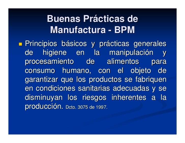 Buenas practicas manufactura for Buenas practicas de manipulacion de alimentos