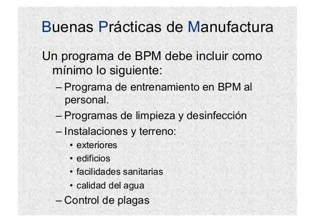 Buenas pr cticas de manufactura para industrias de alimentos for Limpieza y desinfeccion de equipos y utensilios de cocina