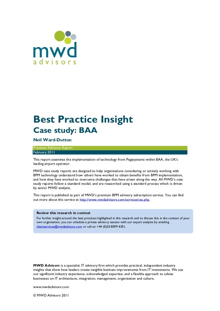 mwdadvisorsBest Practice InsightCase study: BAANeil Ward-DuttonPremium Advisory ReportFebruary 2011This report examines th...