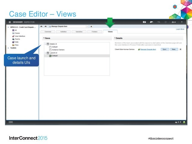 Case Editor – Views Case launch and details UIs