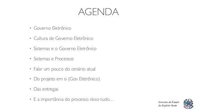 Governo Eletrônico - Portal Cidadão - ES Na Palma da Mão Slide 2