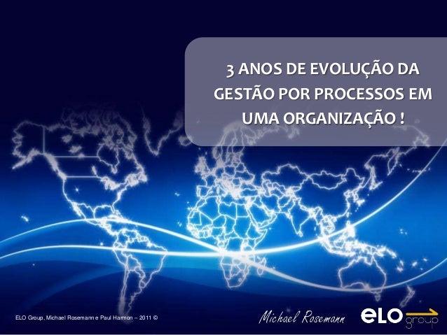 3 ANOS DE EVOLUÇÃO DA                                                     GESTÃO POR PROCESSOS EM                         ...