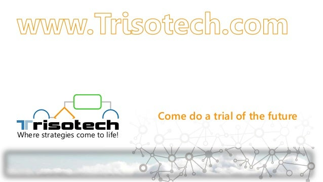 Where strategies come to life! Come do a trial of the future