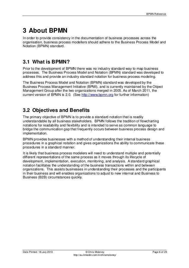 bpmn reference - Bpmn 20 Standard