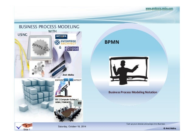 BUSINESS PROCESS MODELING  Saturday, October 18, 2014  Tuck up your sleeves and plunge into Business  © Amit Midha  Slide ...