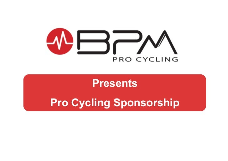 PresentsPro Cycling Sponsorship