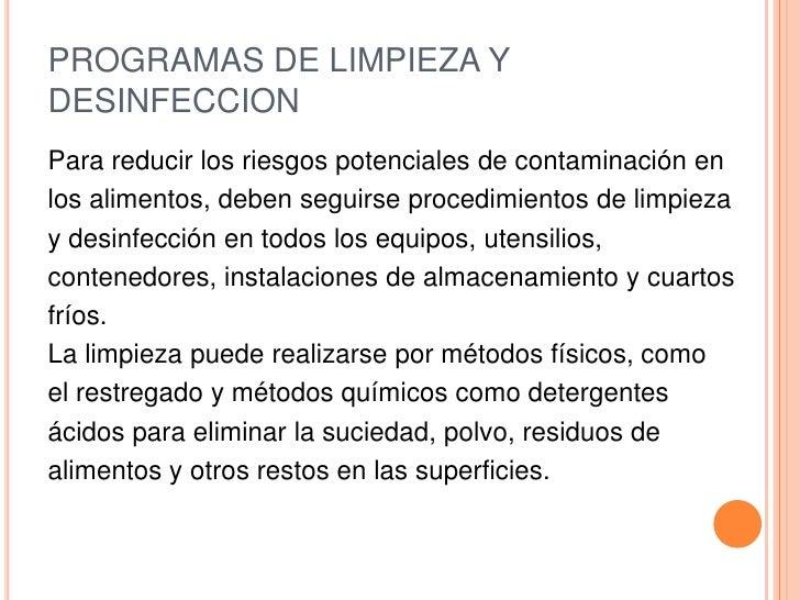 Bpm s for Limpieza y desinfeccion de equipos y utensilios de cocina
