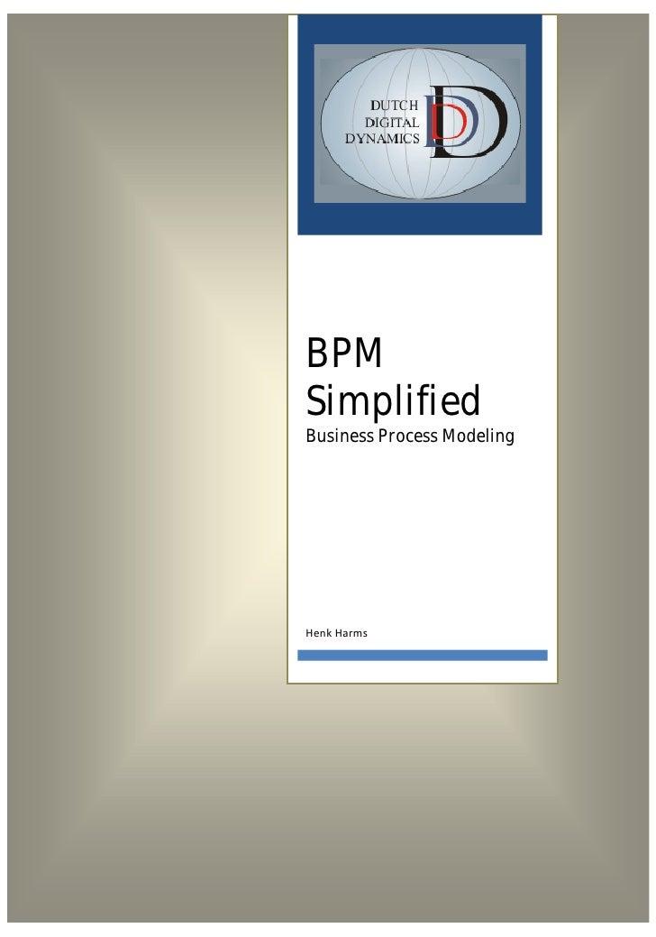 BPMSimplifiedBusiness Process Modeling