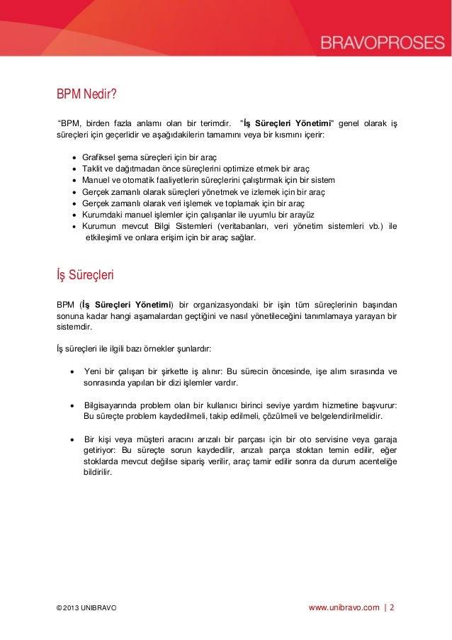 BPM iş süreçleri yönetimi nedir? Slide 2