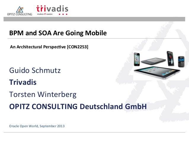 Guido  Schmutz   Trivadis   Torsten  Winterberg   OPITZ  CONSULTING  Deutschland  GmbH   BPM  and  S...