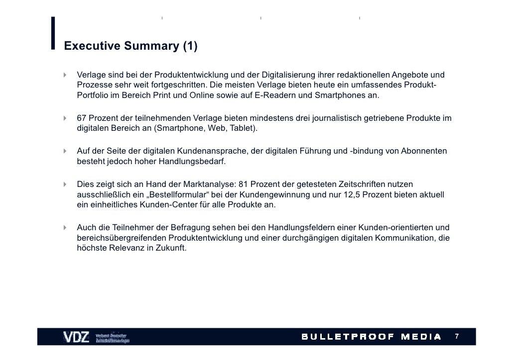Atemberaubend Die Besten Executive Summary Beispiele Galerie ...
