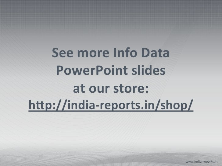 See more Info Data     PowerPoint slides       at our store:http://india-reports.in/shop/                           www.in...