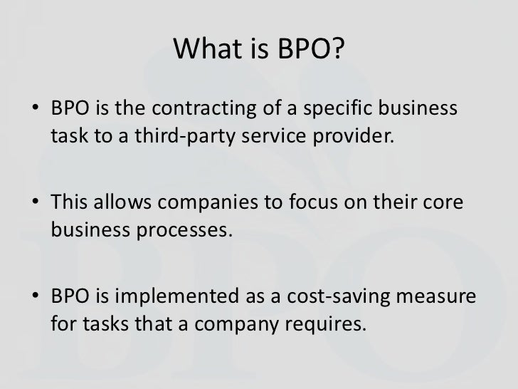 bpo culture Accenture is reinventing business operations through industrialized business process services expertise, technology, applied intelligence & data learn more.
