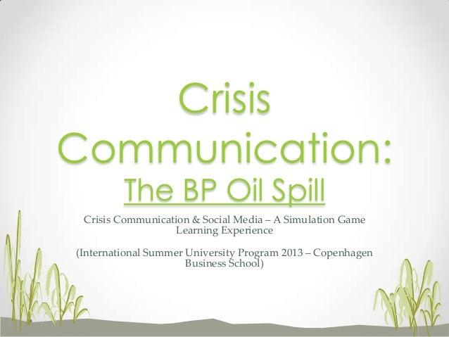 Crisis Communication & Social Media – A Simulation Game Learning Experience (International Summer University Program 2013 ...