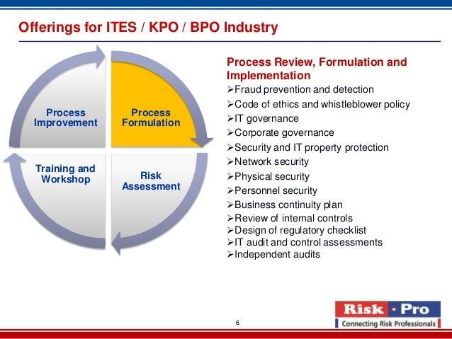 bpo quality control process Bpo risk management 2013