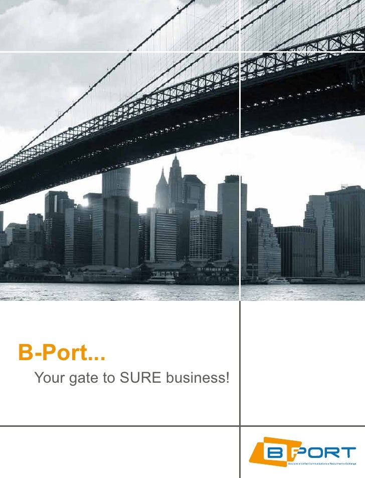 B-Port...  Your gate to SURE business!