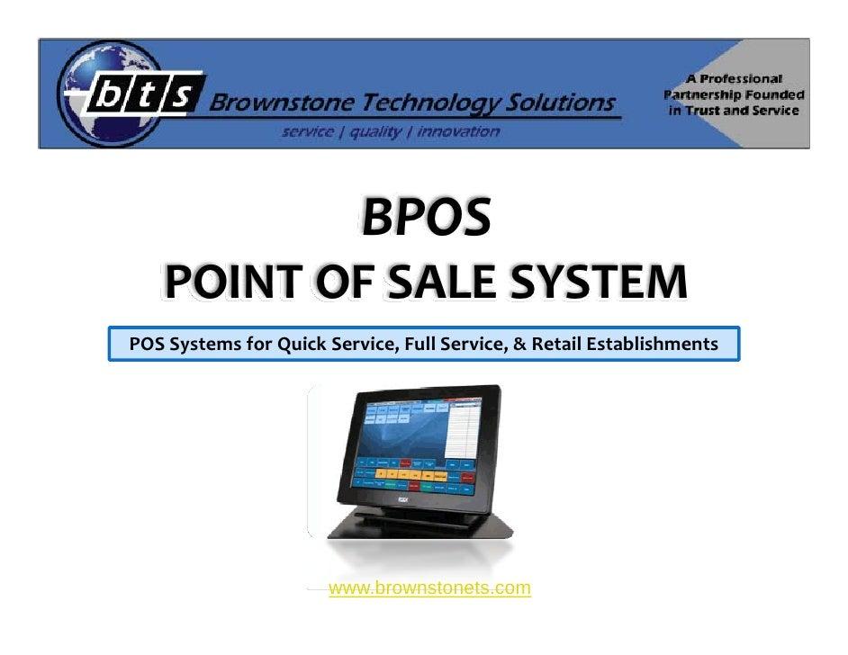 BPOS     POINTOFSALESYSTEM POSSystemsforQuickService,FullService,&RetailEstablishments                        ...