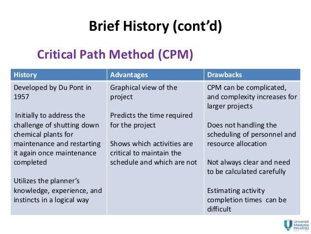 advantages of critical path analysis pdf