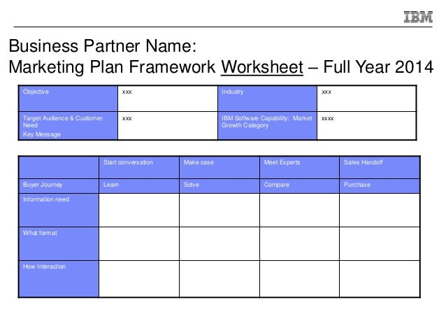 Ibm - Full Year Go-To-Market Plan Template
