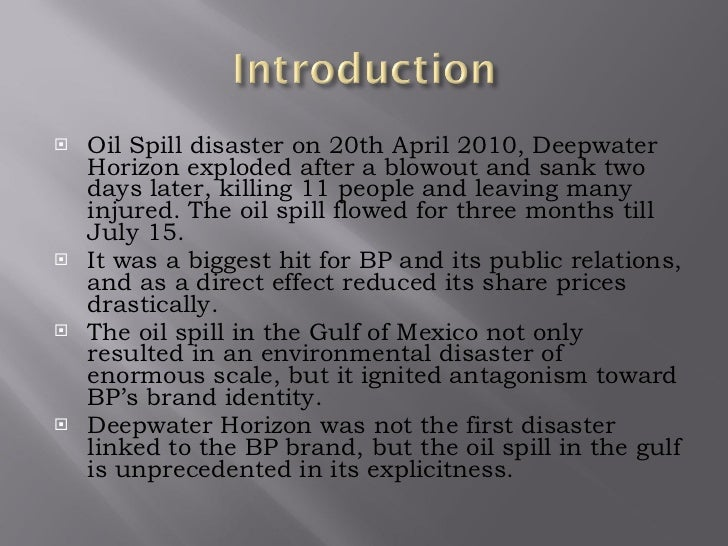 Bp oil spill case study - SlideShare
