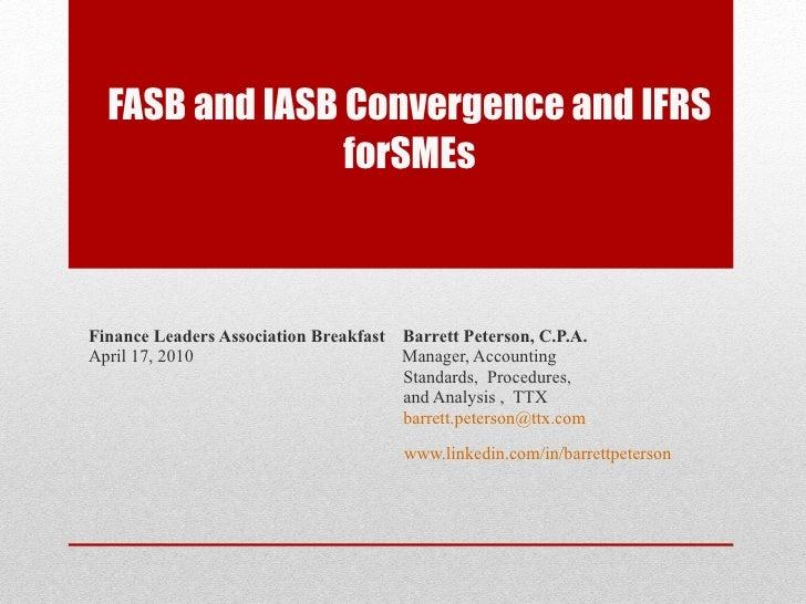 iasb and fasb relationship