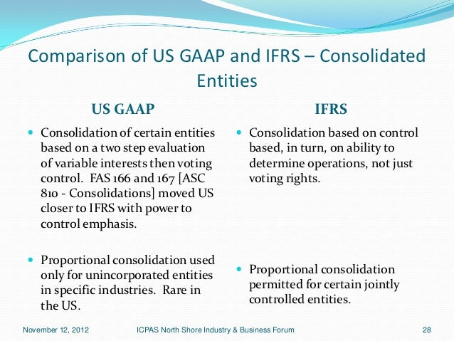 Comparing ifrs to gaap Custom paper Sample