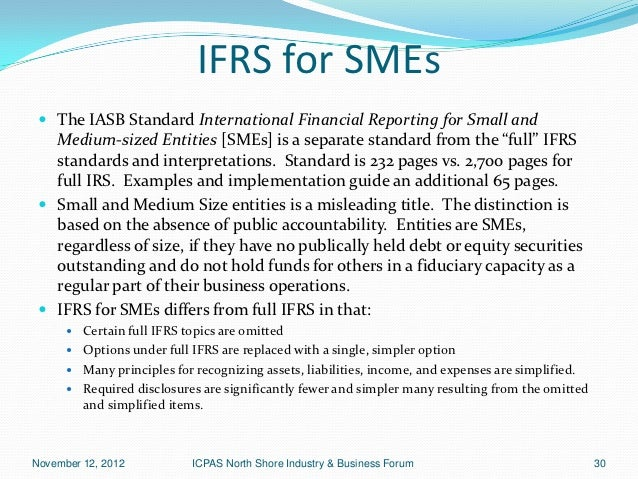 a guide to the ifrs for smes essay International variations in ifrs adoption and practice executive summary 5 amendments and then insert the result into law  related to the ifrs for smes.