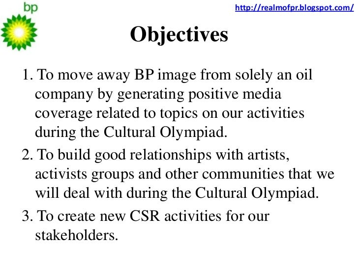 bp pr case study Discuss, in a third section, the bp case study results  considered it as the core of  public relations practice  been one of the three main areas of public relations.
