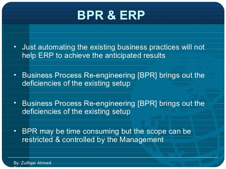 Bpr Or Business Process Reengineering