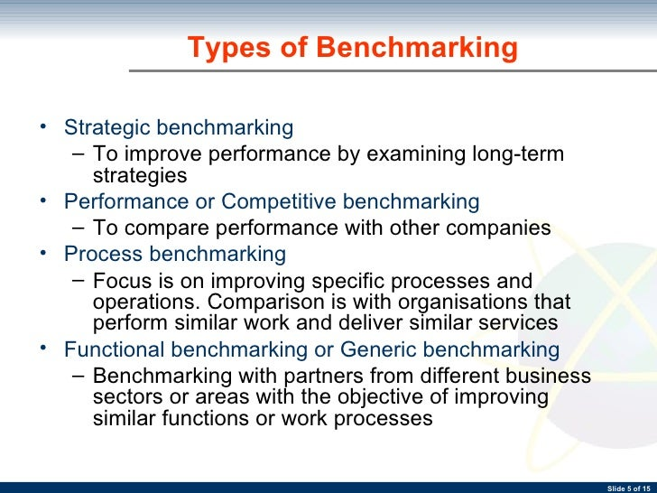 compare and contrast generic benchmarking In contrast to a comprehensive index that aggregates all measured changes into  a single evaluation or rank, the  the generic benchmarks and criteria must be  adapted to serve a  districts with the most resources for comparison with other.