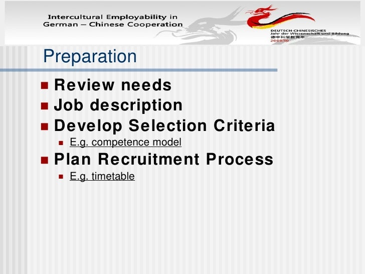 Difference between China and Germany in recruitment Slide 3