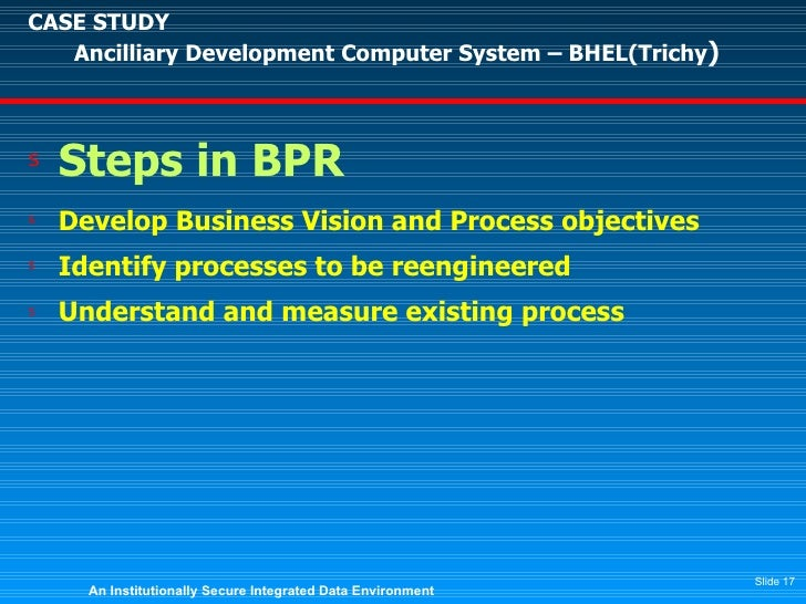 Bpr case study pdf