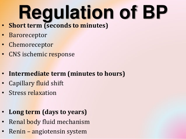 Bp Regulation