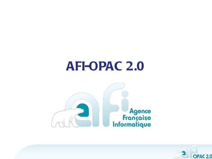 AFI-OPAC 2.0