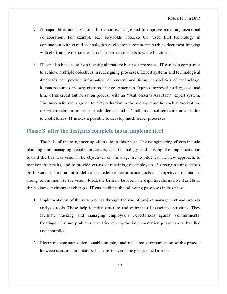 business process reengineering case study general motors