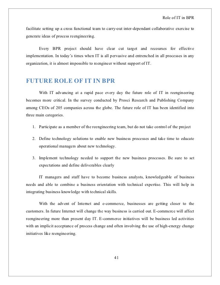 business process reengineering report pdf