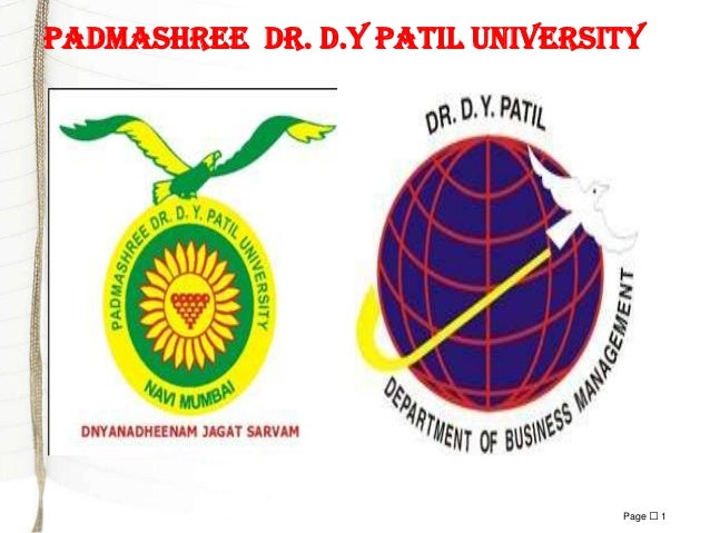 Padmashree dr. d.y patil university  Page  1