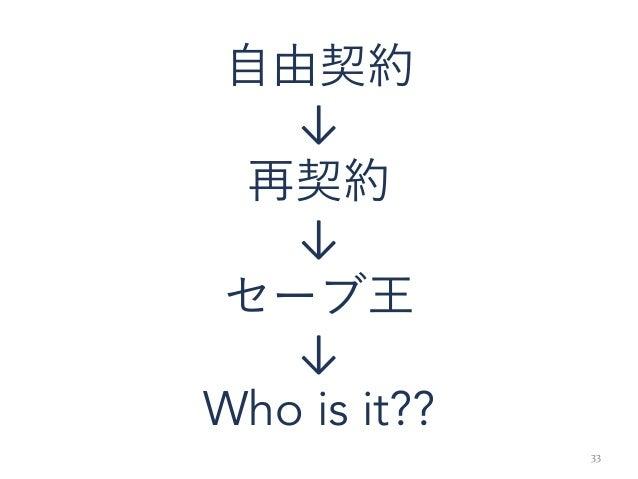 33 自由契約 ↓ 再契約 ↓ セーブ王 ↓ Who is it??