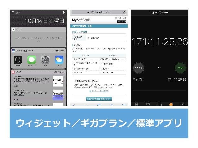 ウィジェット/ギガプラン/標準アプリ