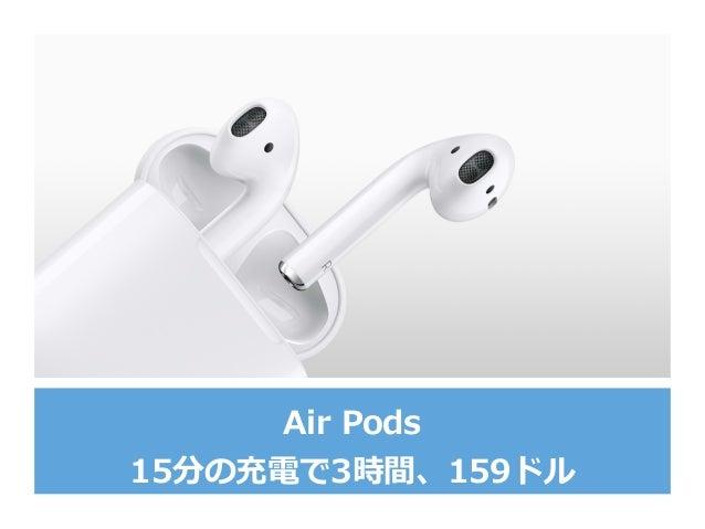 Air Pods 15分の充電で3時間、159ドル