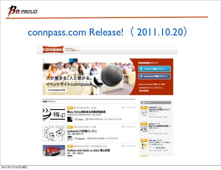 connpass.com Release!   2011.10.202011   11   3