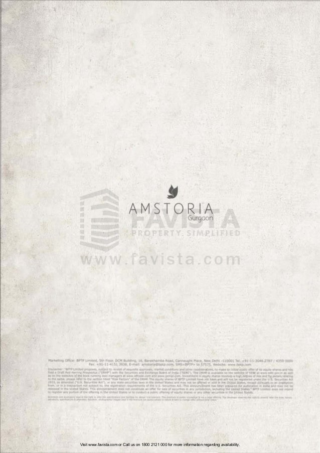 Bptp Amstoria Country Floors Brochure 82 Favista Real Estate