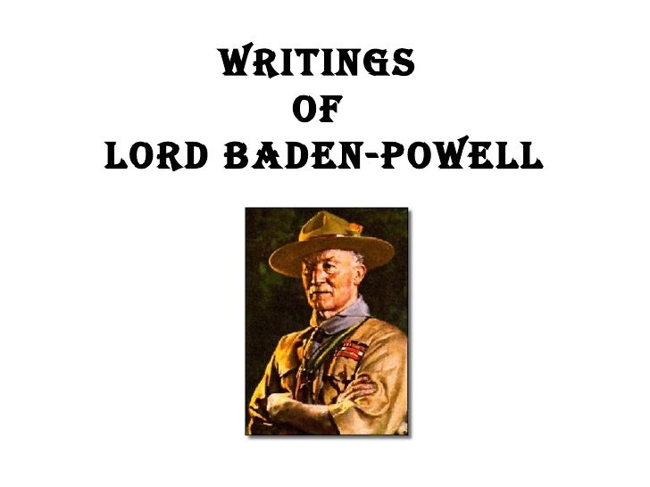 Writings  of  Lord Baden-Powell