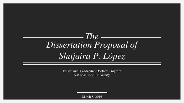 Dissertation proposal defense