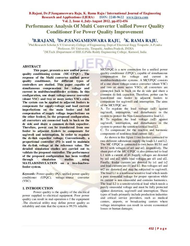 B.Rajani, Dr.P.Sangameswara Raju, K. Rama Raju / International Journal of Engineering             Research and Application...