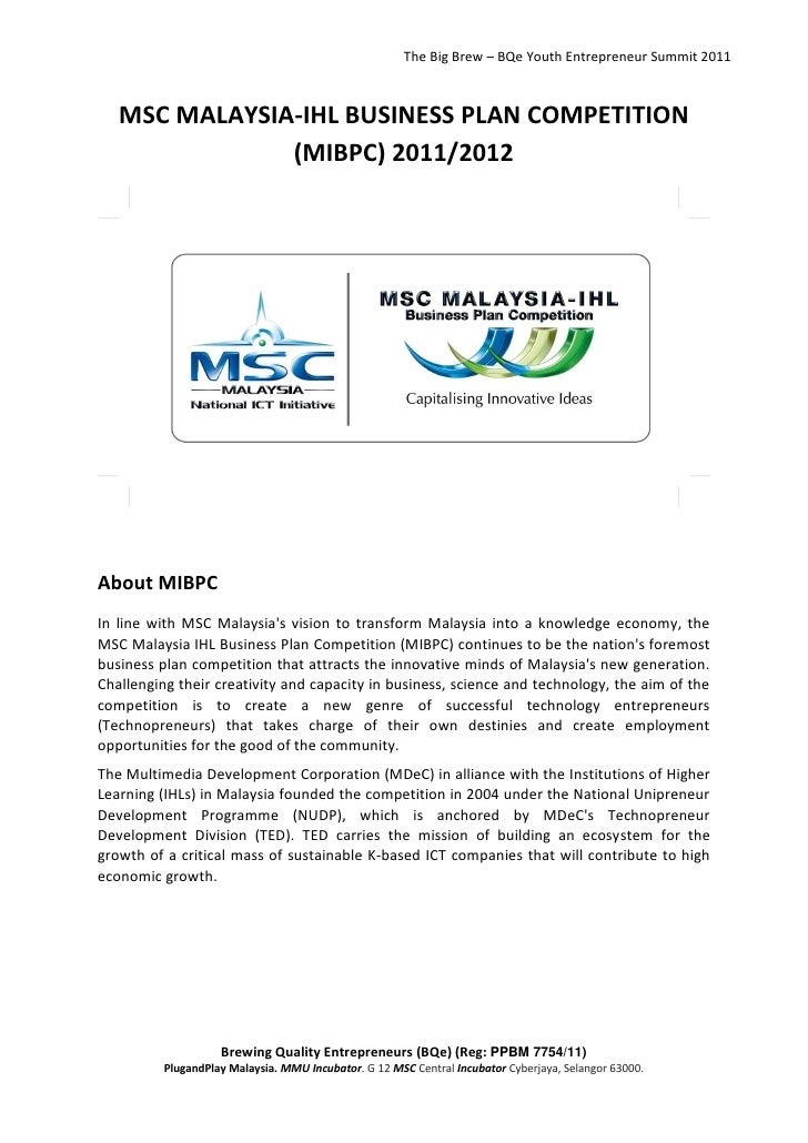 INNOVATIVE TECHNOPRENEURS AWARDED AT MSC MALAYSIA-IHL BUSINESS PLAN COMPETITION 2009/2010